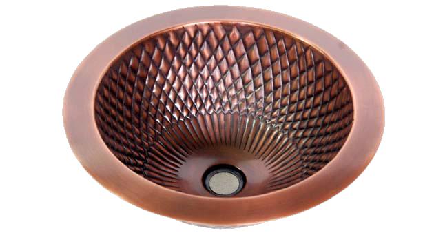 Copper Bar Round Sinks